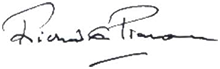 Mayor of Chichester, Councillor Richard Plowman - signature