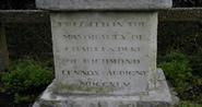 Image showing the inscription on the St James Obelisk at the junction of Westhampnett Road and Spitalfields Lane, Chichester