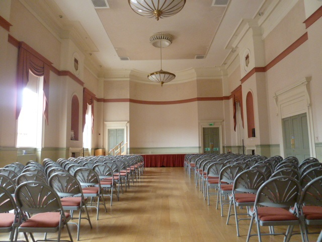The Assembly Room, the Council set up with theatre style layout