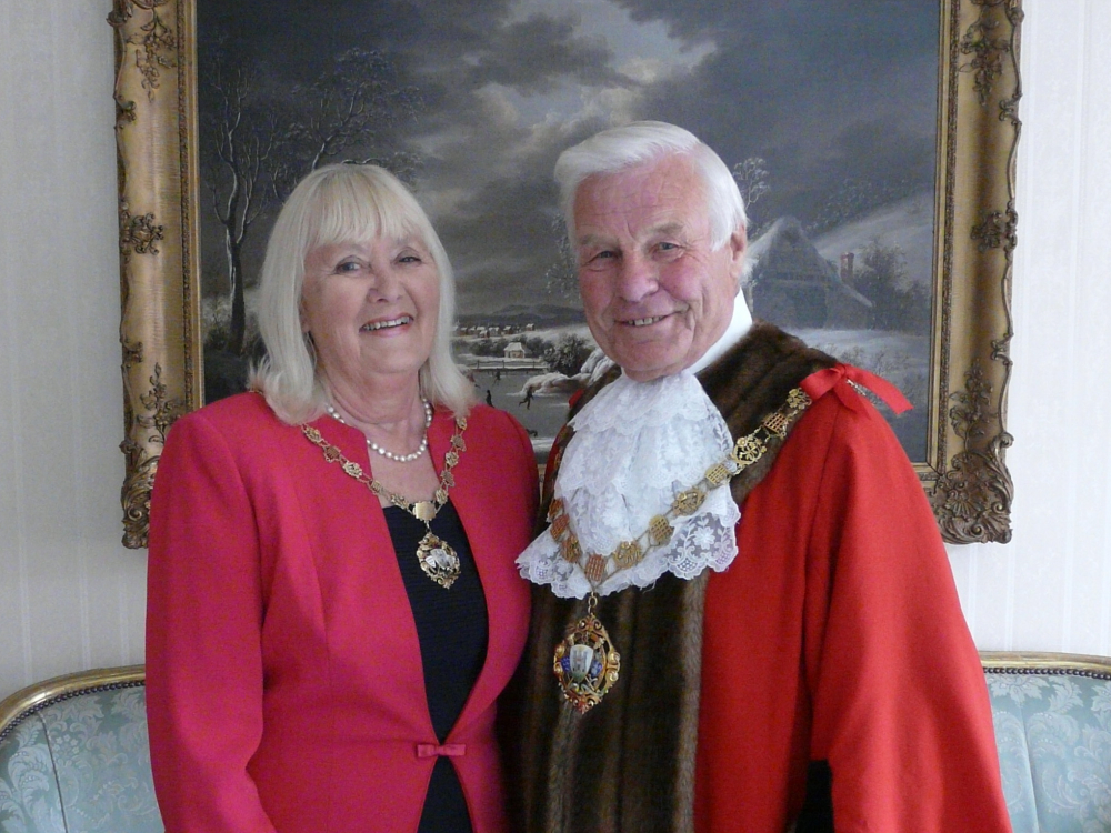 Image showing the Mayor and Mayoress of Chichester Councillor John Hughes & Councillor Cherry Hughes