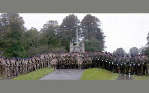Image showing 47th Regiment Artillery in Litten Gardens, Chichester, on the occasion of the receipt of the Freedom of the City of Chichester