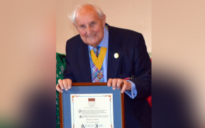 Image showing Anthony French, MBE, on the occasion of the receipt of the Freedom of the City of Chichester