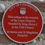 City Council Local Interest Plaque, former leper hospital, St James Cottage