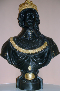 Picture of the bust of King Charles I, presented to the City of Chichester by King Charles II