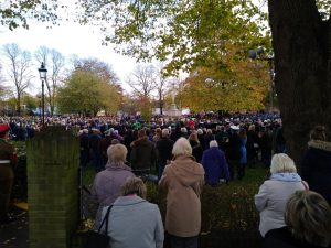 Crowds gathered at Litten Gardens for Remembrance Sunday 2019