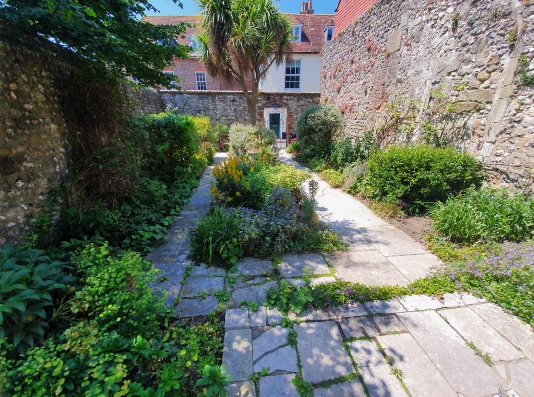 St Martins Garden looking towards the gate