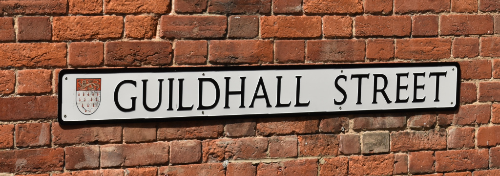 Street Naming sign - Guildhall Street