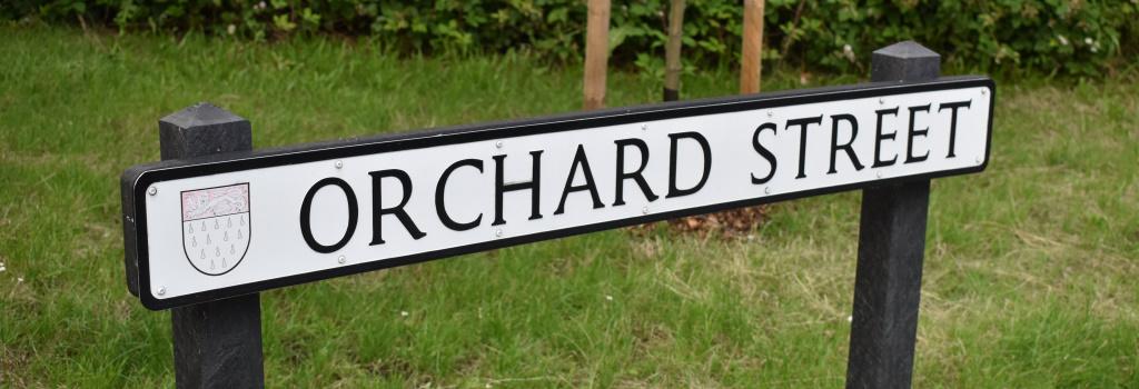 Street Naming sign - Orchard Street